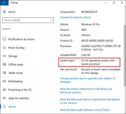 Windows 10 32bit