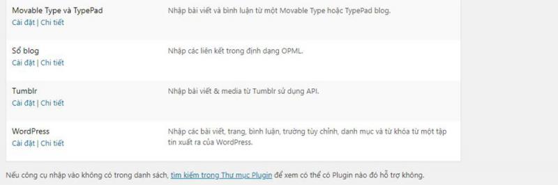 Nhập dữ liệu – Xuất Nhập dữ liệu trong WordPress